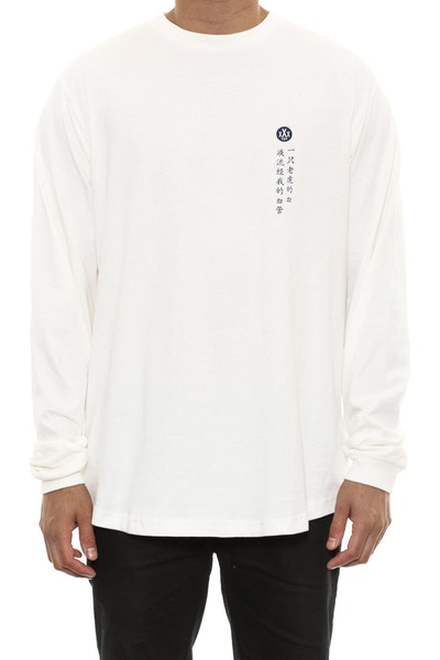 Ten Deep Blood Chit Long Sleeve Tee Off White