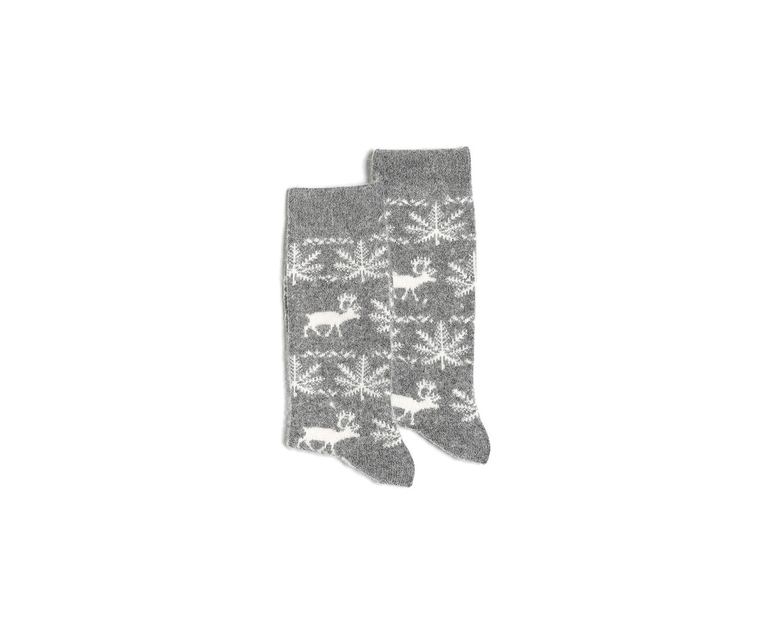 Prancer Crew Sock Grey