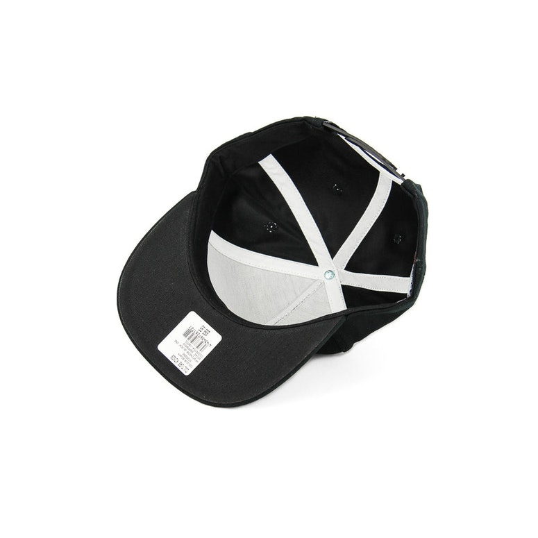 Spike Leather Strapback Black