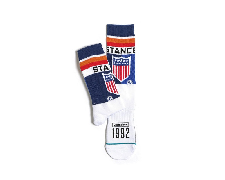 Decathlon Sock White/navy/red