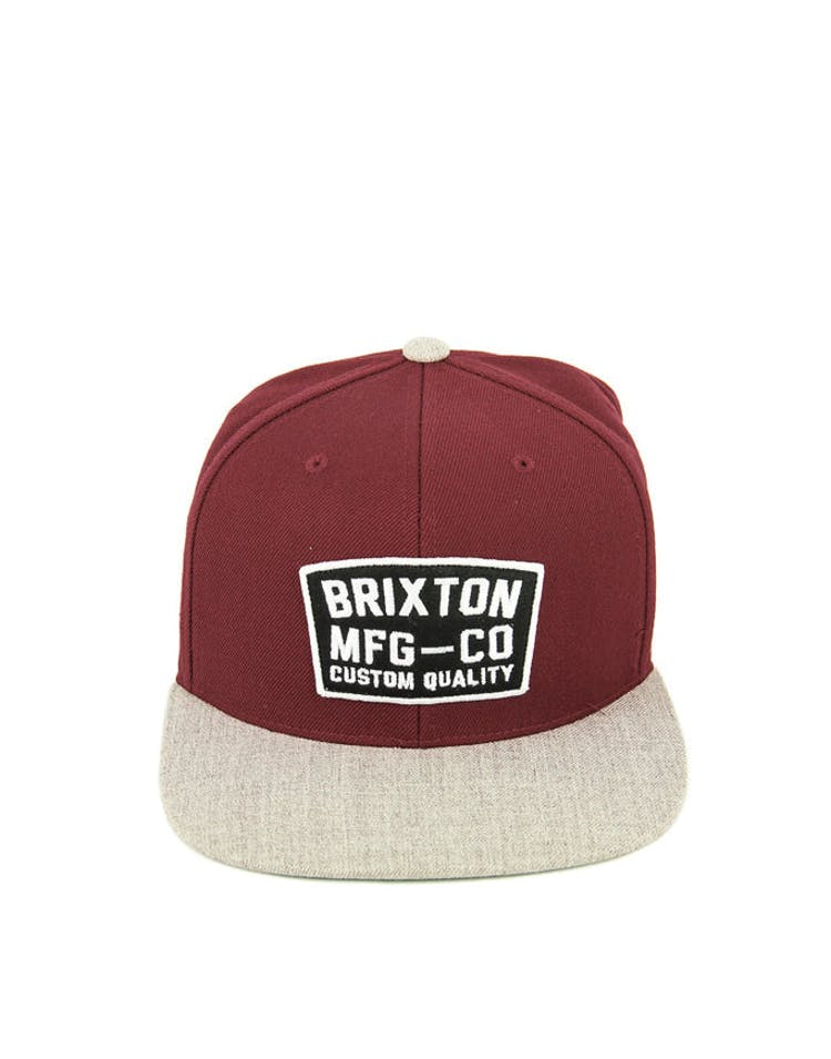 d24be9c1 Brixton National Snapback Burgundy – Culture Kings