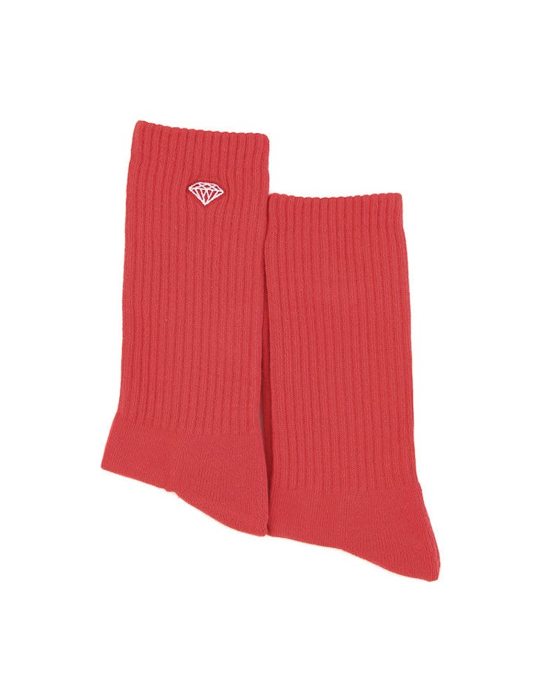 Diamond Supply Brilliance High Top Sock Red