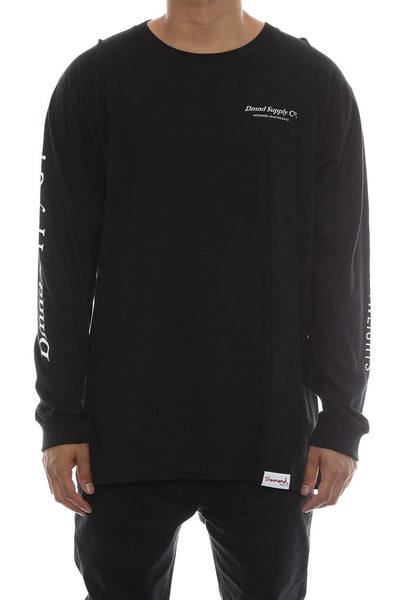 Diamond Supply Dmnd Supply Long Sleeve Tee Black