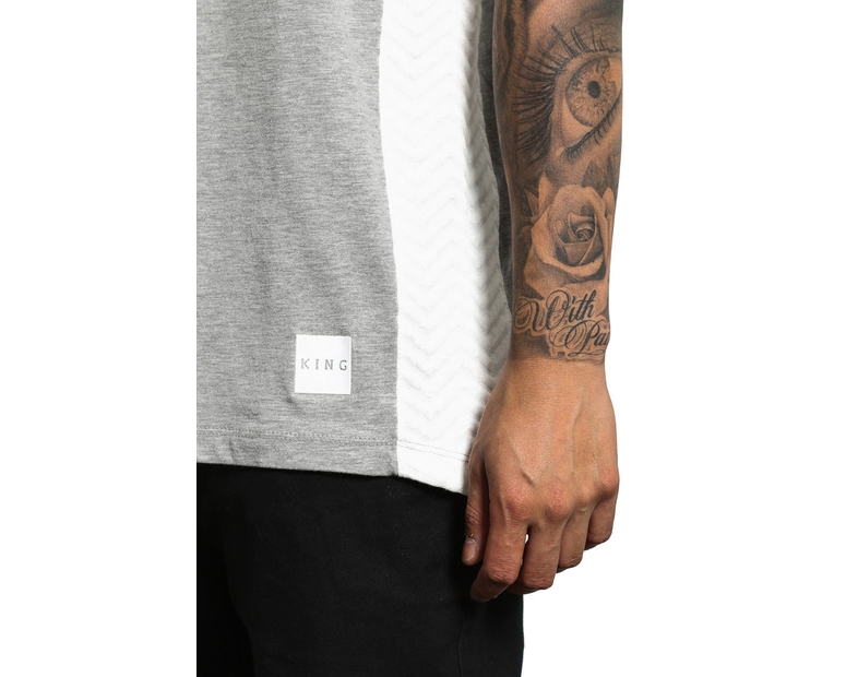 King Apparel Interlock Tee Grey/white