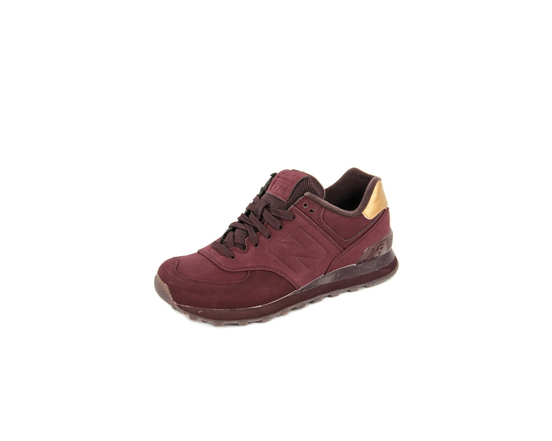 Women's 574 Burgundy/gold