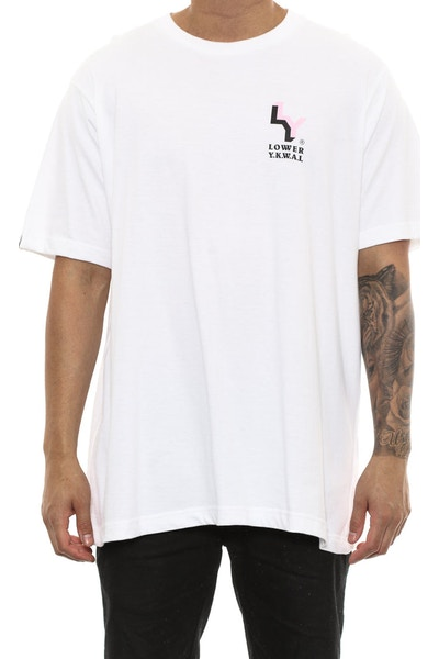 Lower Badge Qrs Tee White