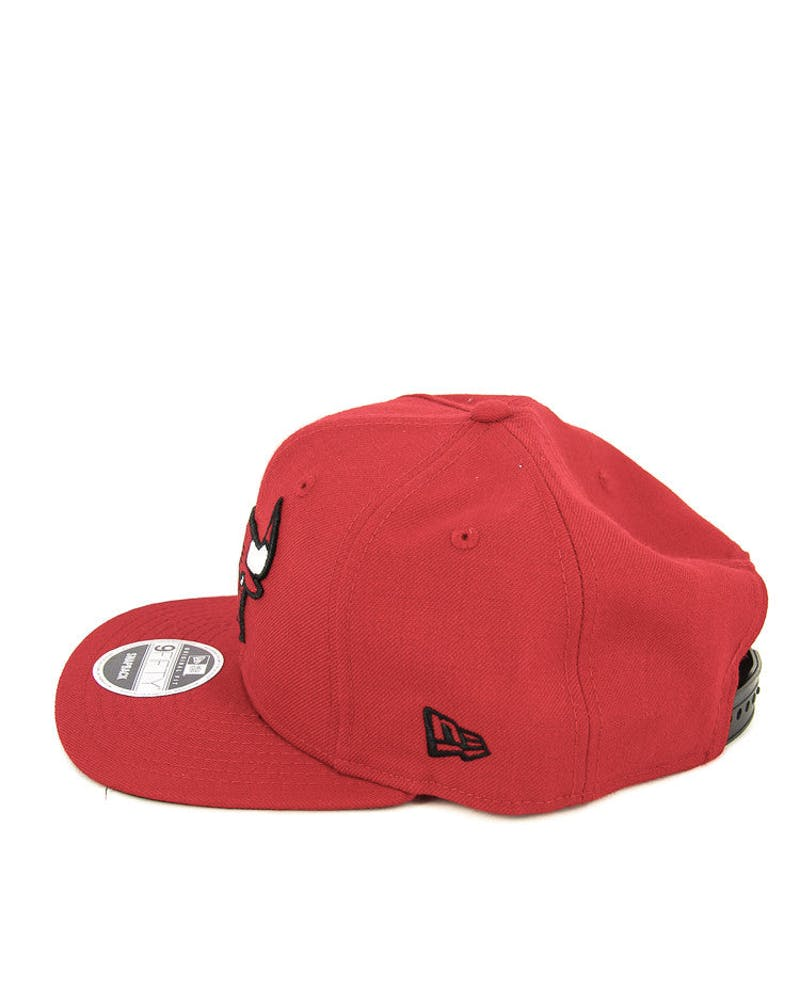 New Era Bulls Original Fit Snapback Scarlet/black