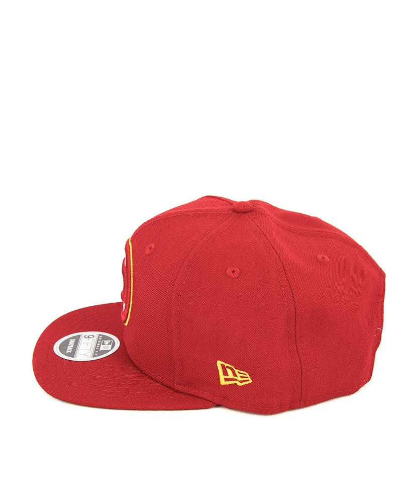 New Era Hawks 90's Original Fit Snapback Red/green