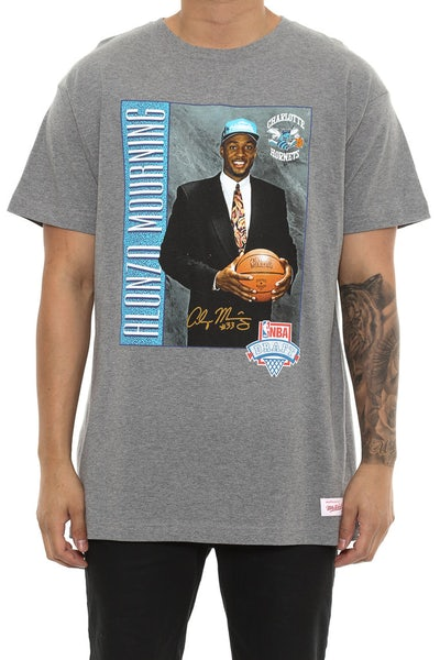 Mitchell & Ness Alonzo Mourning Draft Day Tee Grey