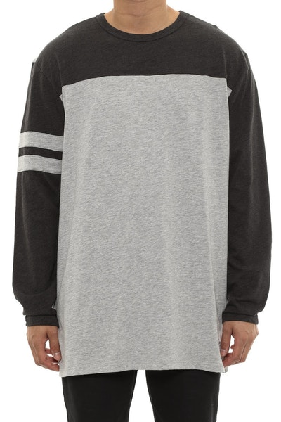 Originator Long Sleeve Top Grey/charcoal