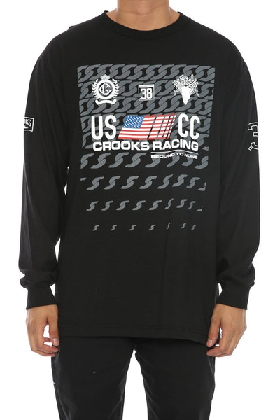Crooks & Castles Cuban Linx Long Sleeve Tee Black