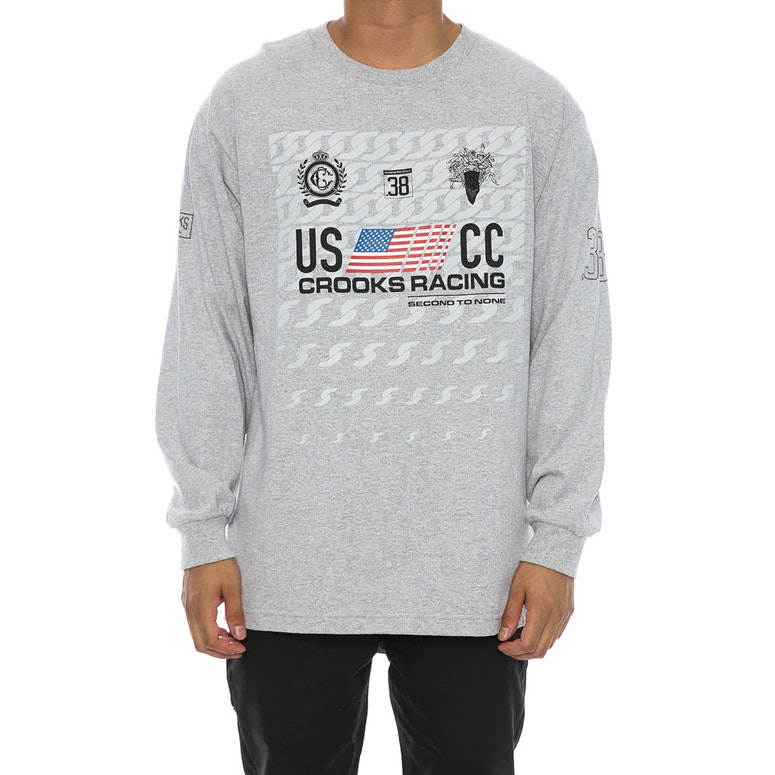 Crooks & Castles Cuban Linx Long Sleeve Top Grey