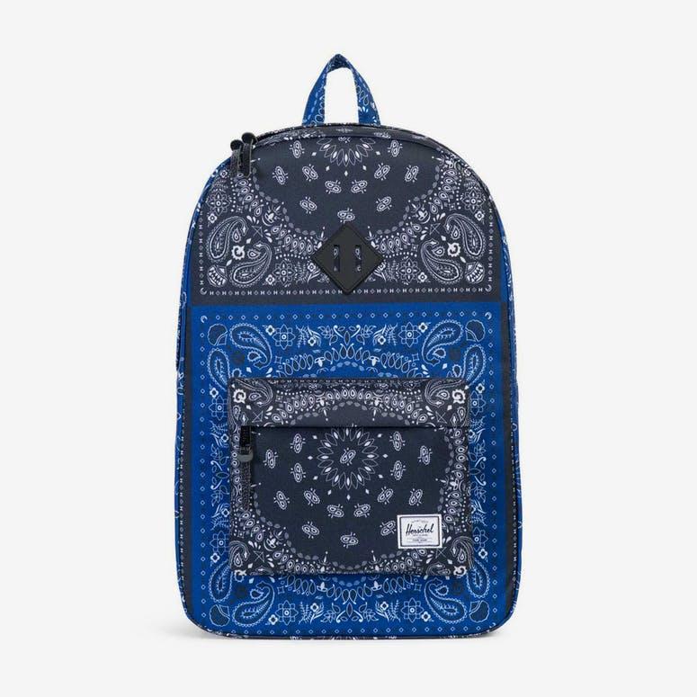 52a59f0b7b Herschel Bag CO Heritage Rubber Bandana Navy black – Culture Kings