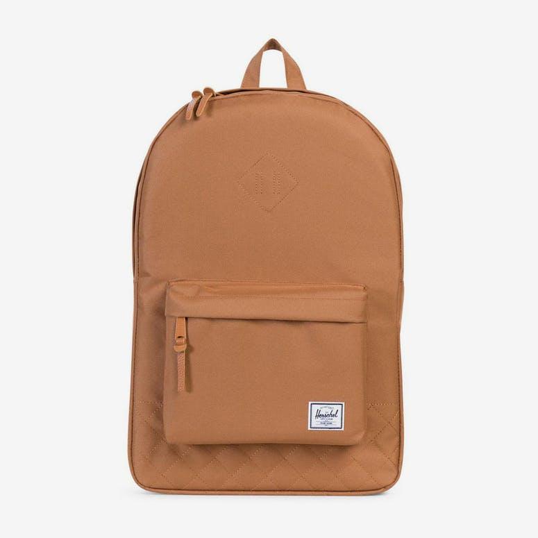 af17b9d32b Herschel Bag CO Heritage Quilted Backpack Caramel