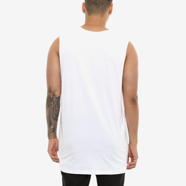 Last Kings Egypt Embroidery Muscle Tee White