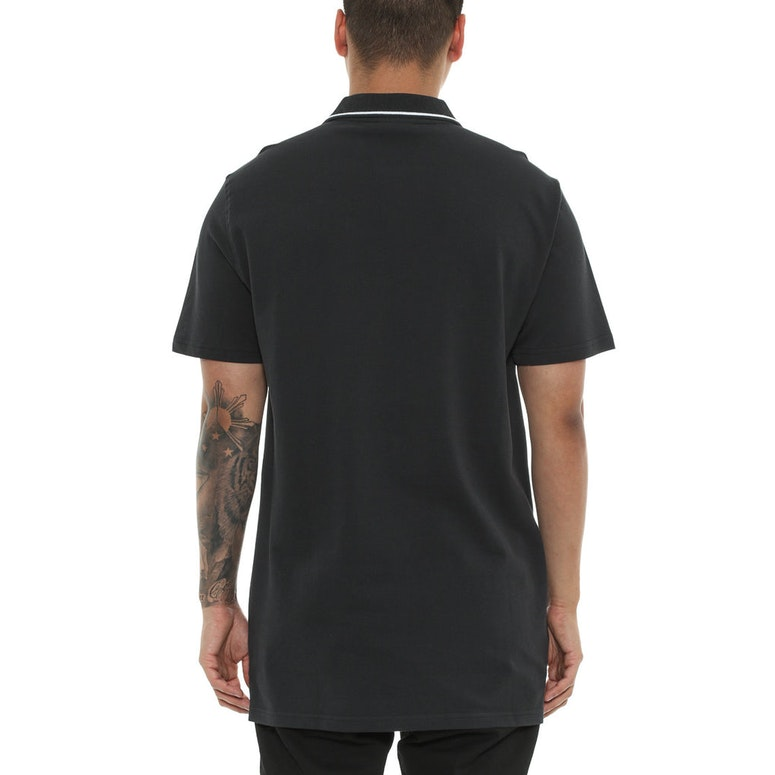 Last Kings Piquet Zip Polo Black