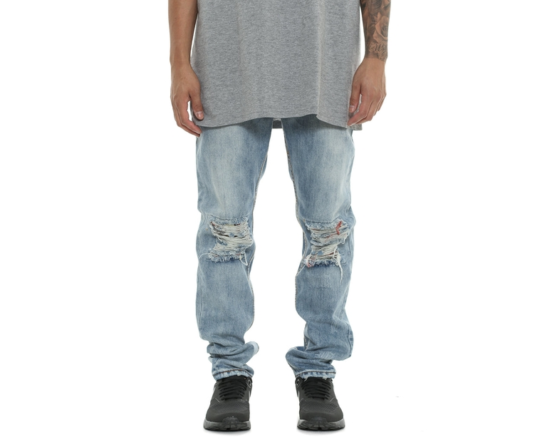 Kurt Denim Thrash Flannel Jean Light Indigo