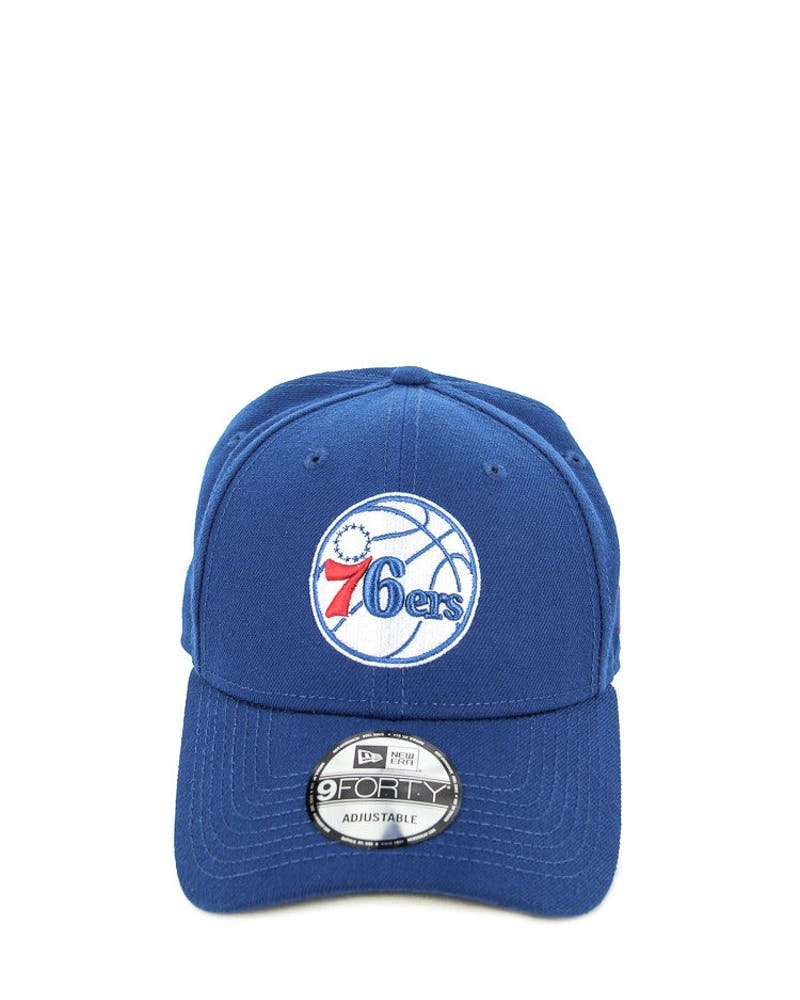 New Era 76ers Logo 9FORTY Velcro Back Royal