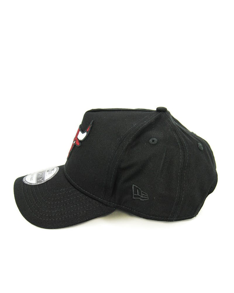 New Era Bulls 9FORTY A-Frame Snapback Black