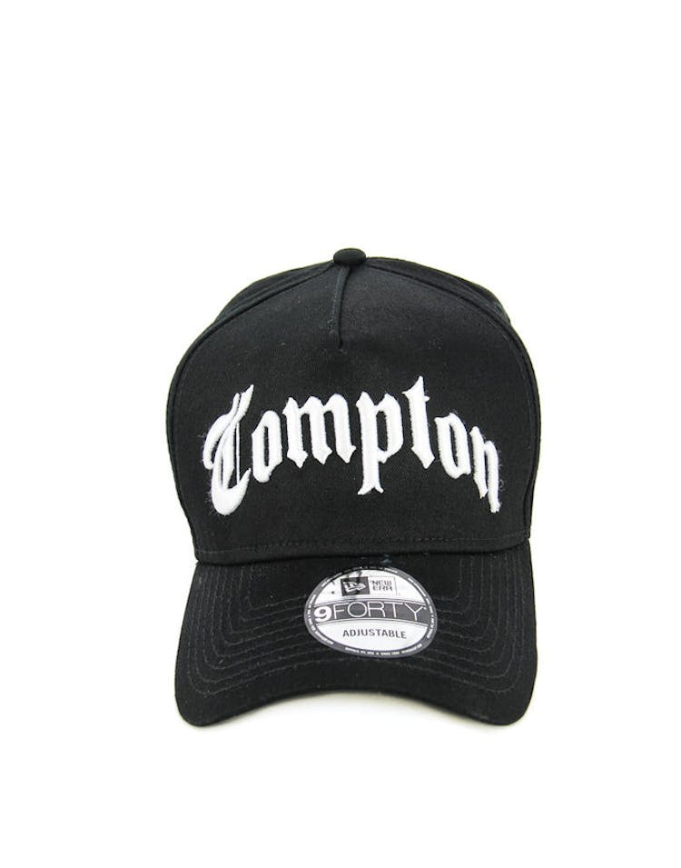 new product 1604d 2ac40 New Era Compton 9FORTY Snapback Black white – Culture Kings