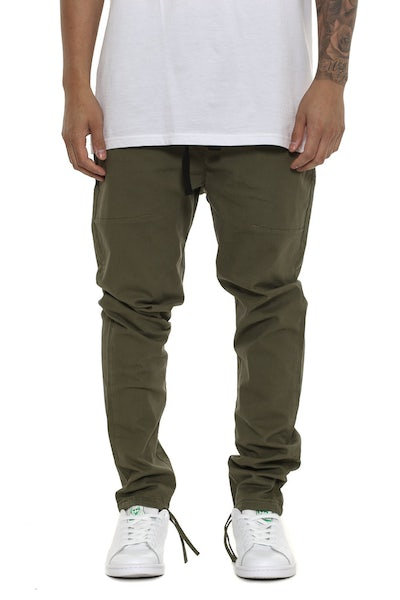 Thing Thing Cinched Dojo Pant Army Green