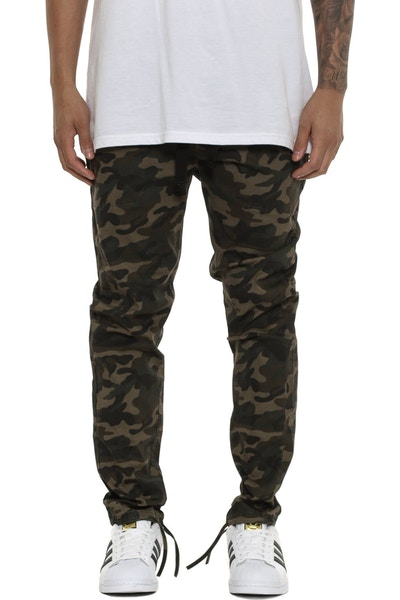 Thing Thing Cinched Dojo Pant Dark Green Camo