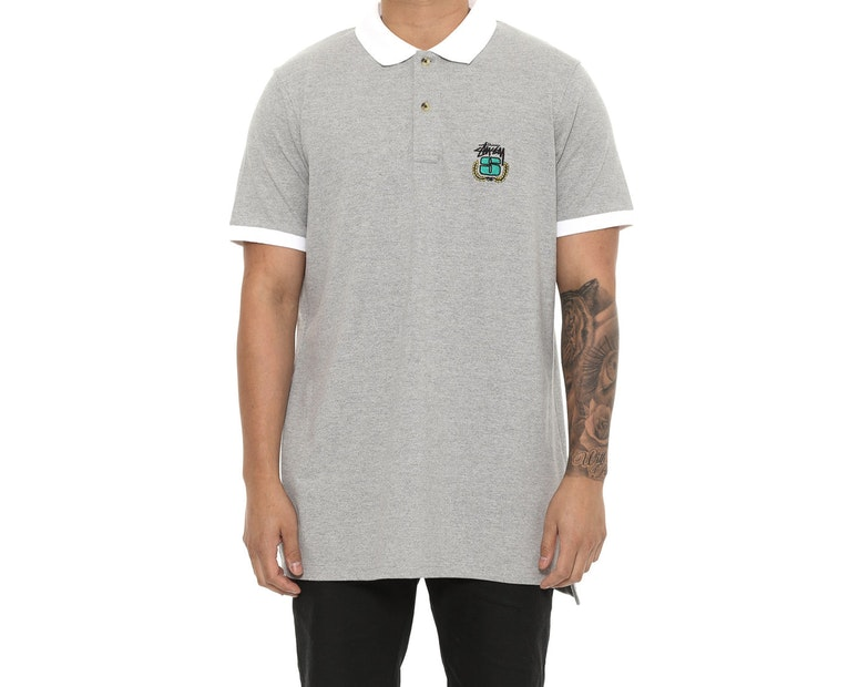 Stussy Wreath SS Polo Grey