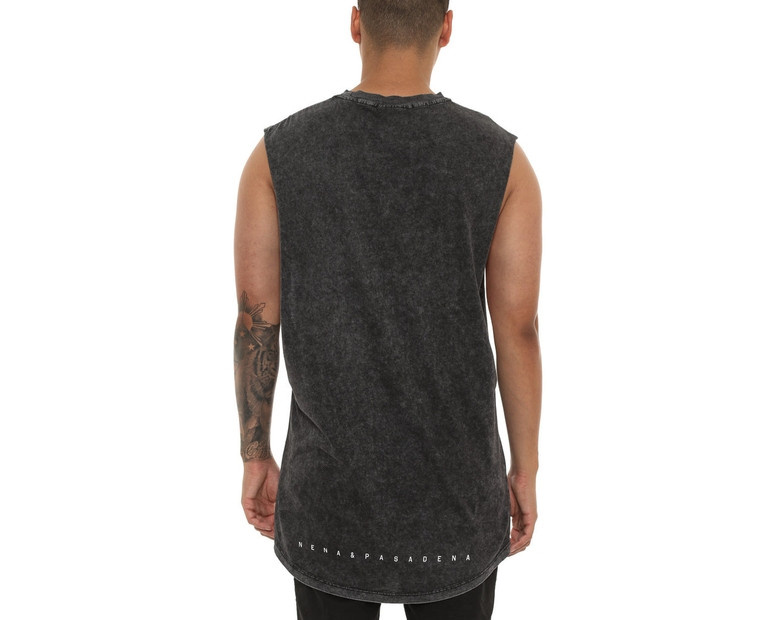 Nena and Pasadena Eclipse Muscle Tee Acid Black