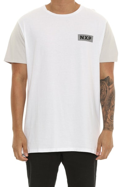 Nena and Pasadena Dead Island Scooop Back Tee White/grey