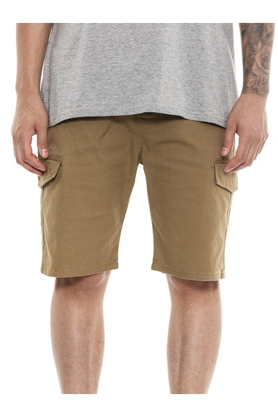 Last Kings Cargo Shorts Dark Tan