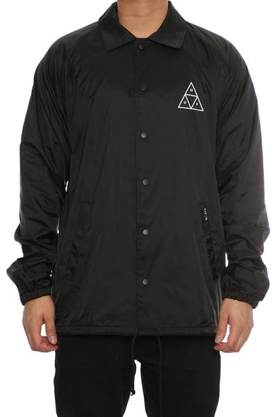 Huf Triple Triangle Coaches Jacket Black