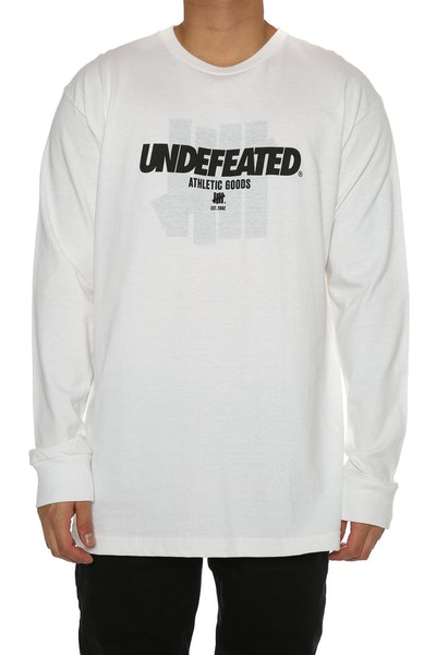 Undefeated Reloaded Long Sleeve Tee White