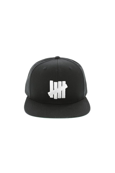 Undefeated 5 Strike Snapback Ballcap Black