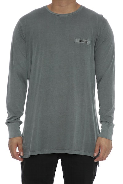 Zanerobe Insert Flintlock Long Sleeve Grey