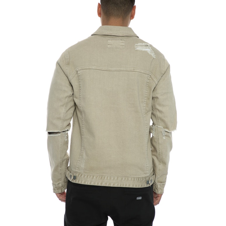 Zanerobe Greaser Denim Jacket Beige Culture Kings