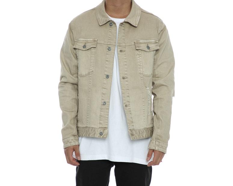 Zanerobe Greaser Denim Jacket Beige Culture Kings