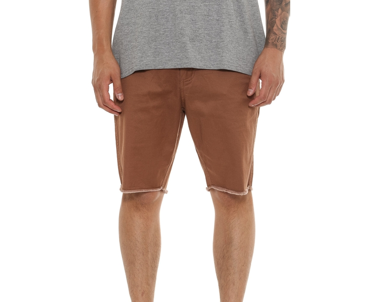Saint Morta Edged Short 2 Distress Hem Brown