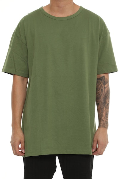 Well Made Tyson Box Tee Army Green