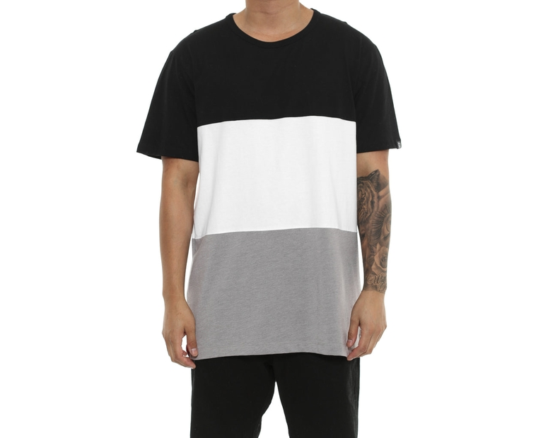 Well Made Gretzky Paneled Tee Black/White/Grey