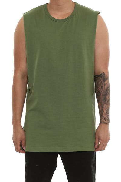 Well Made Arnold Muscle Tee Army Green
