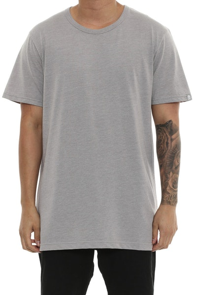 MJ Basic SS T Grey Heather