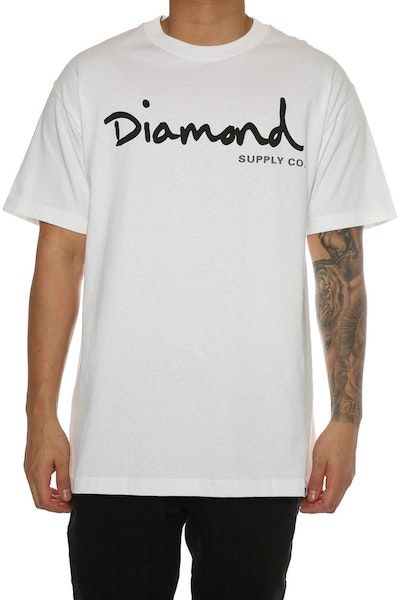 Diamond Supply OG Script Tee White/black