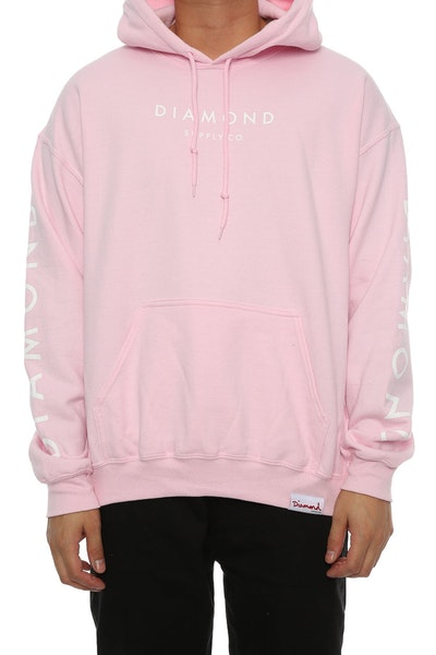 Diamond Supply Stone Cut Hoodie Pink
