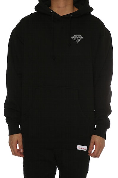 Diamond Supply Champagne Script Hood Black