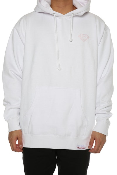 Diamond Supply Champagne Script Hood White