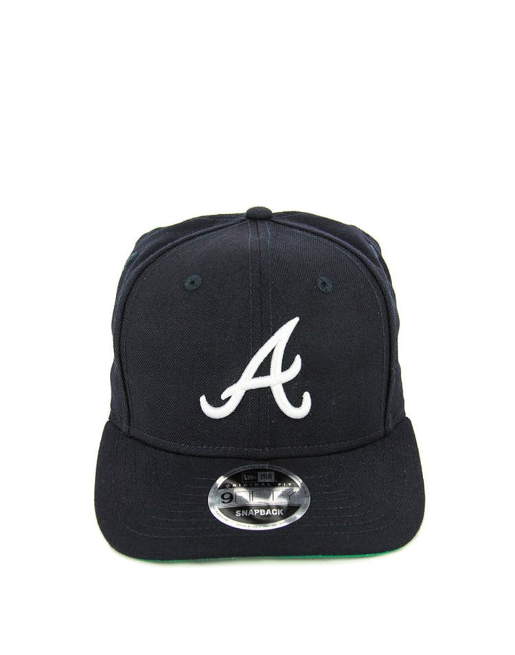 premium selection 43523 16049 New Era Braves 9FIFTY Precurved Original Fit Snapback Navy white – Culture  Kings