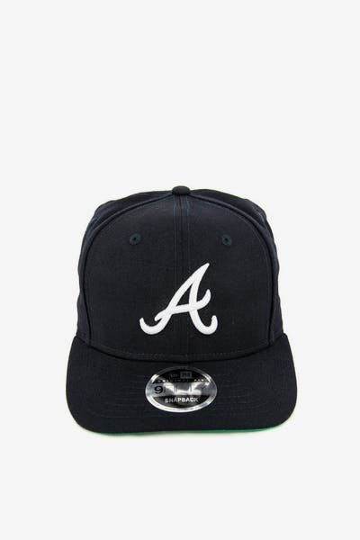 New Era Braves 9FIFTY Precurved Original Fit Snapback Navy/white