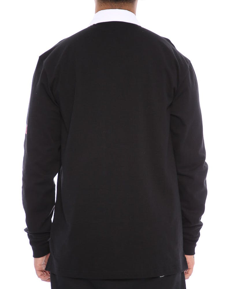 Zoo York NYC Long Sleeve Rugby Polo Black