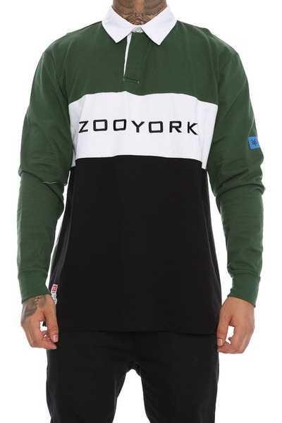 Zoo York Nyc Long Sleeve Rugby Polo Green
