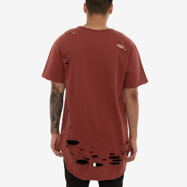 Eptm Thrasher OG Long Tee Burgundy